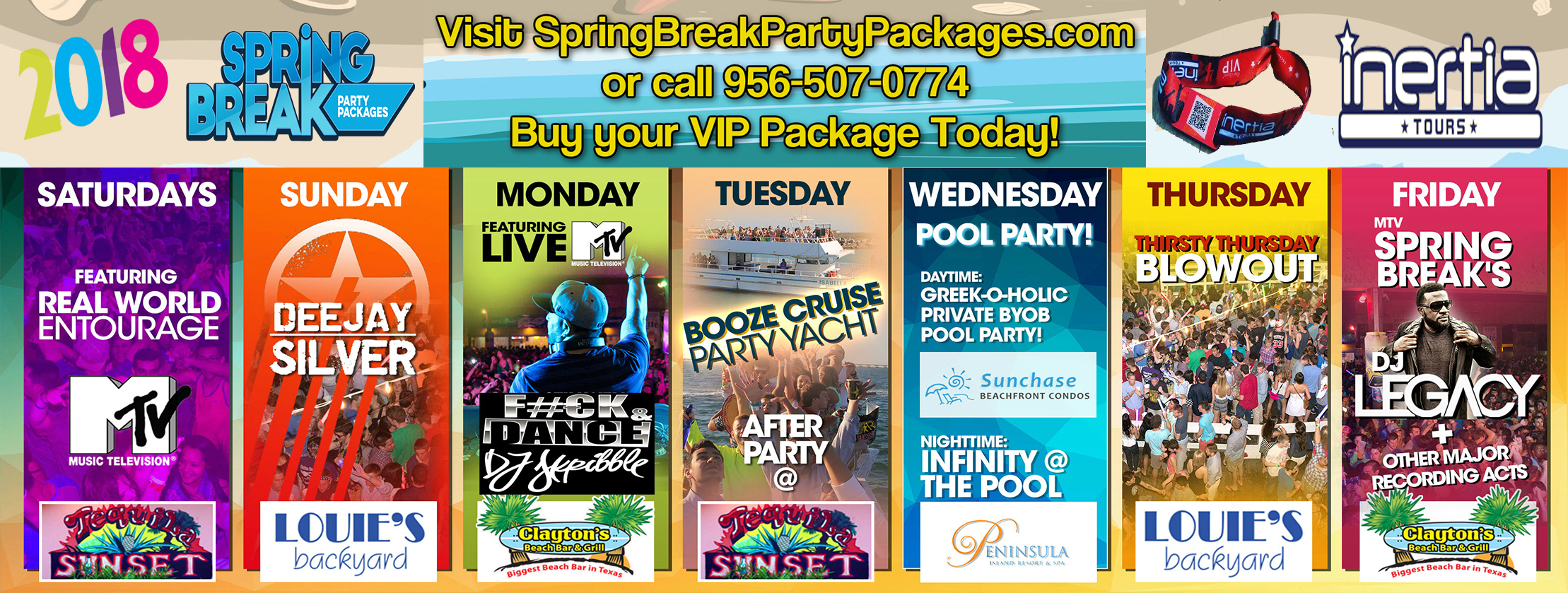 2018 south padre party schedule