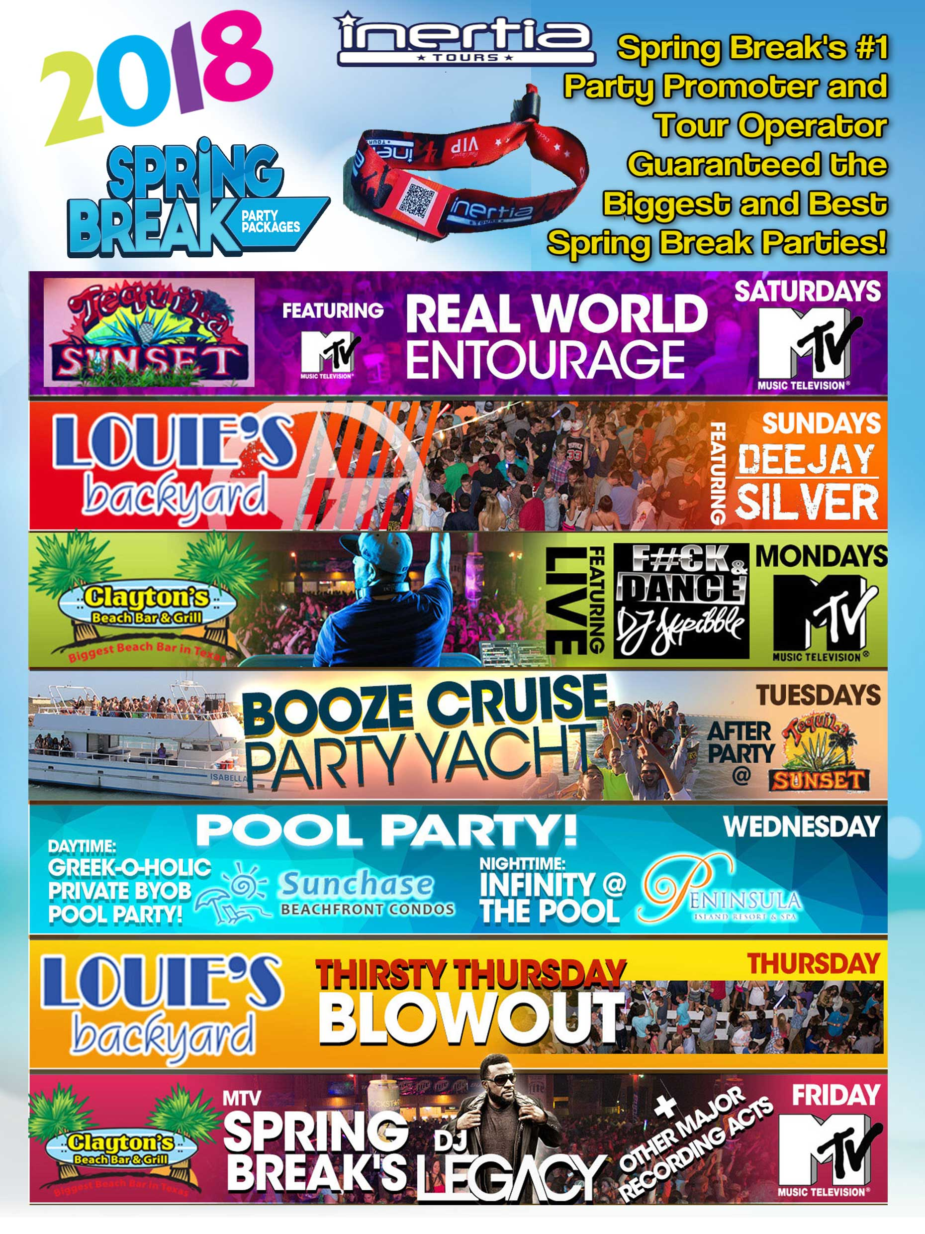 spring break party packages u2013 south padre spring break vip party